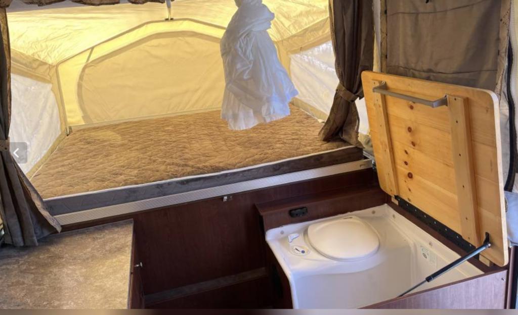 pop up camper toilet combo
