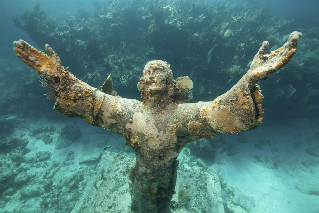 Statue of Christ of the Abyss in Key Largo