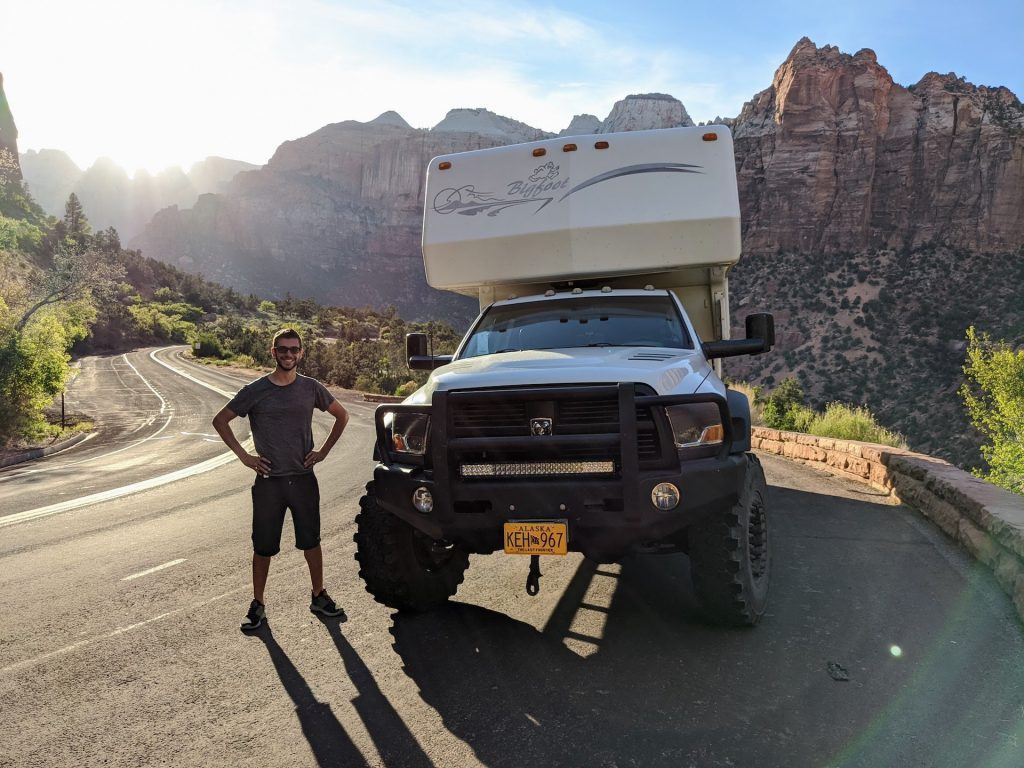 mortons on the move bigfoot truck camper
