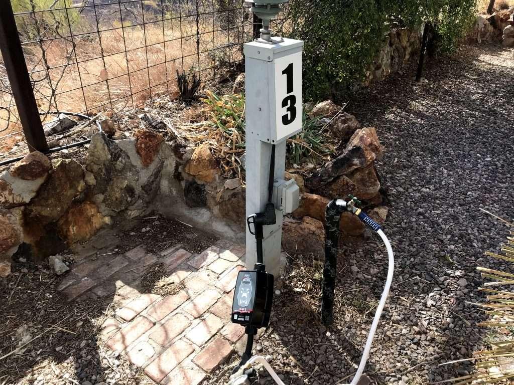 rv electrical pedestal