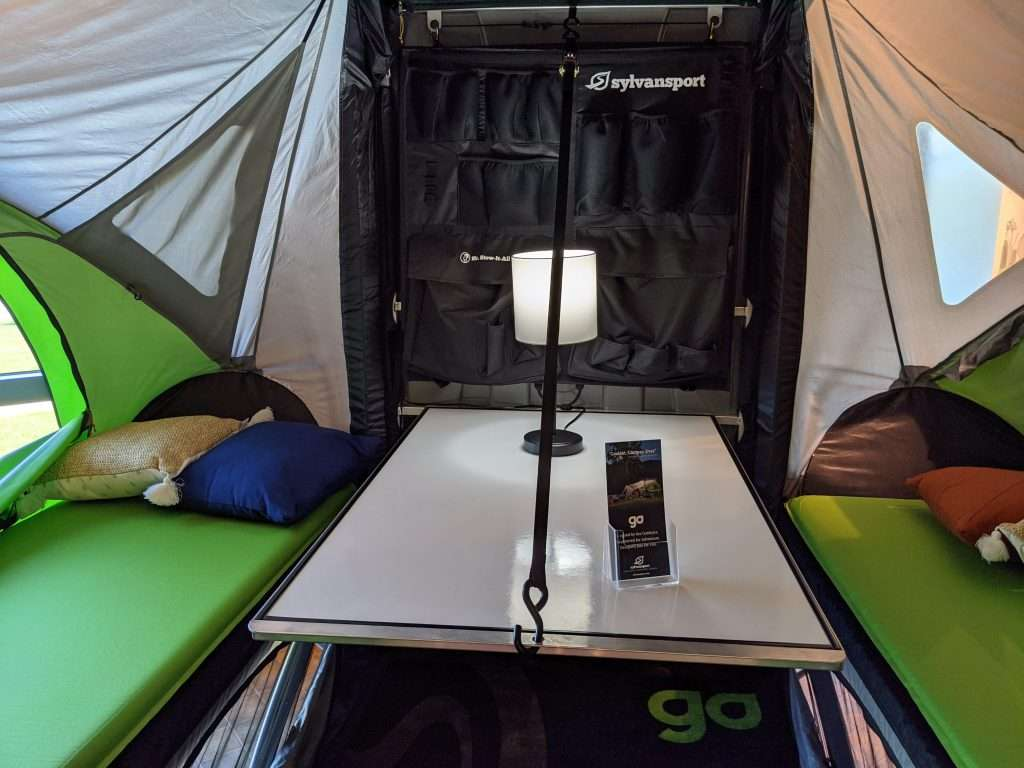 trailer tent interior