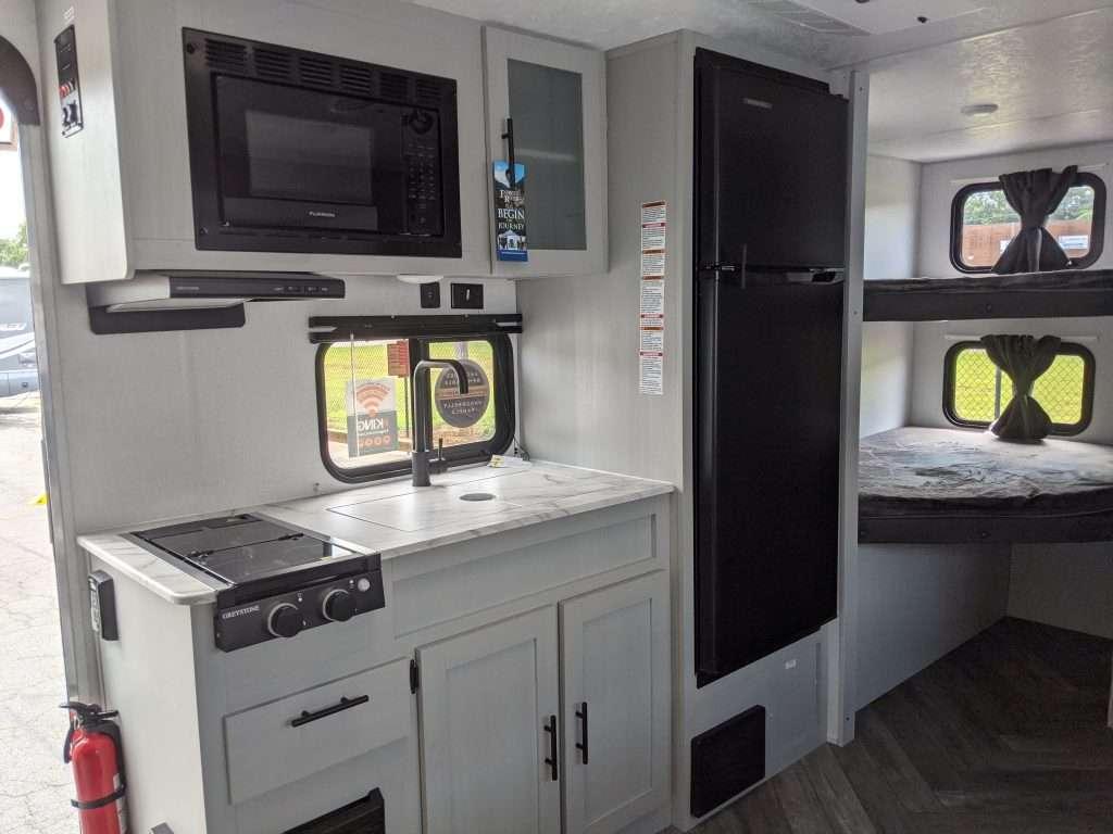 rv kitchen with propane range