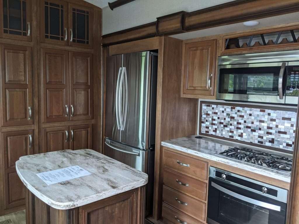 rv refrigerator in kitchen