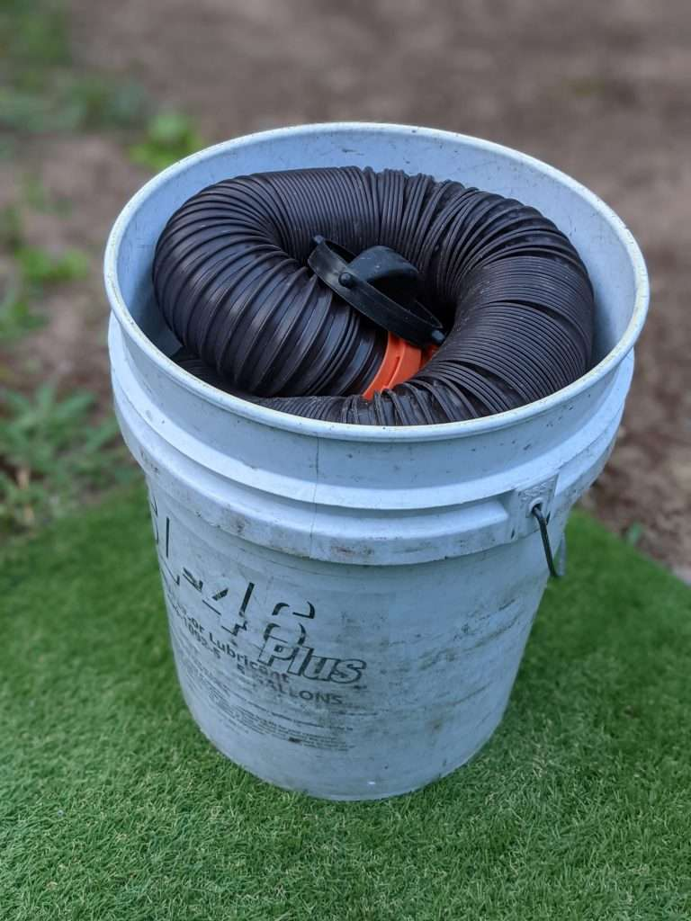 5 gallon RV sewer hose storage