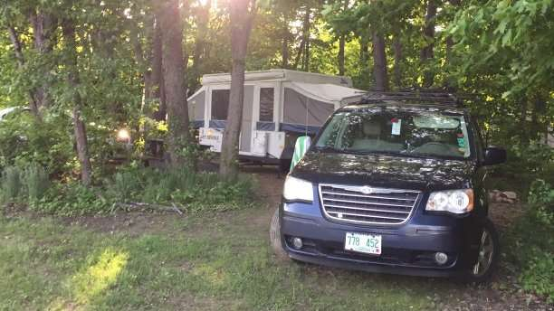 tow camper with van
