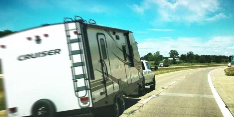 swaying trailer on highway