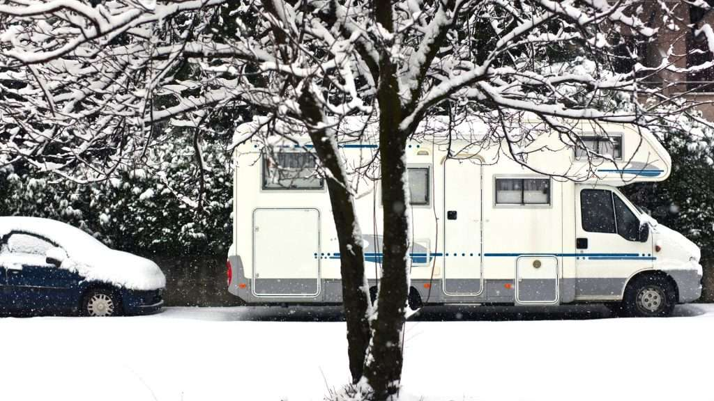 Cold Snowy Camper Van Heater