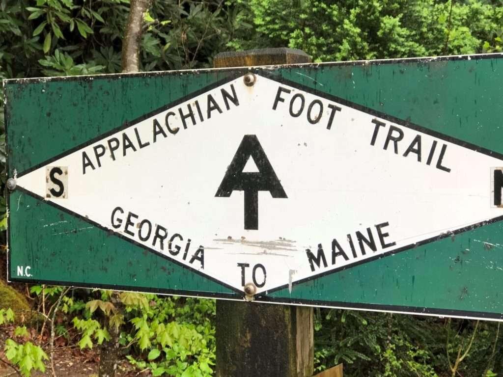 Appalachian foot trail sign