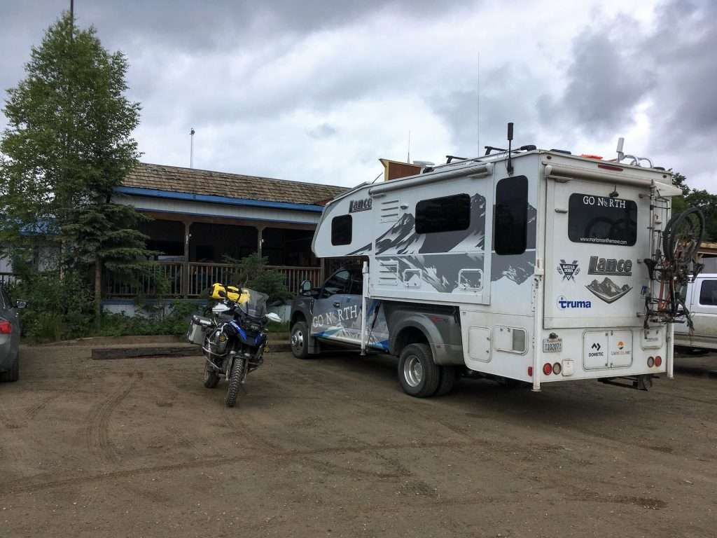 parked at coldfoot alaska store