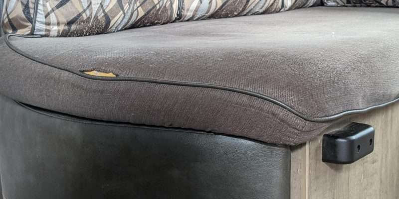 worn-out camper cushions