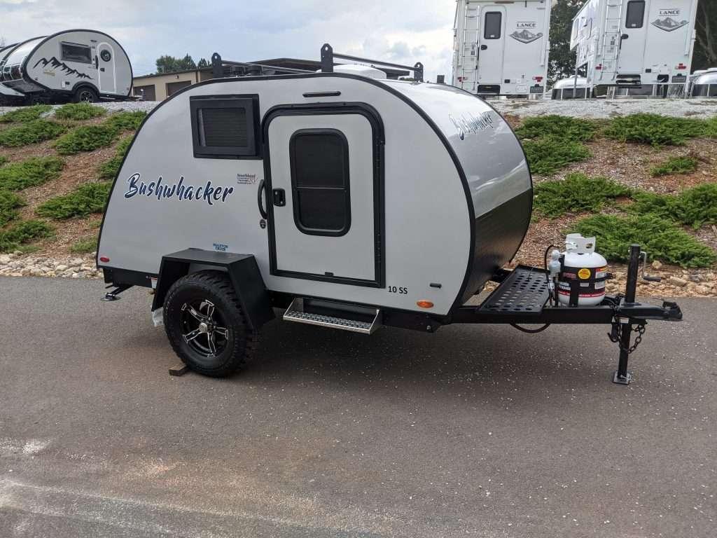 Bushwhacker teardrop camper without a bathroom