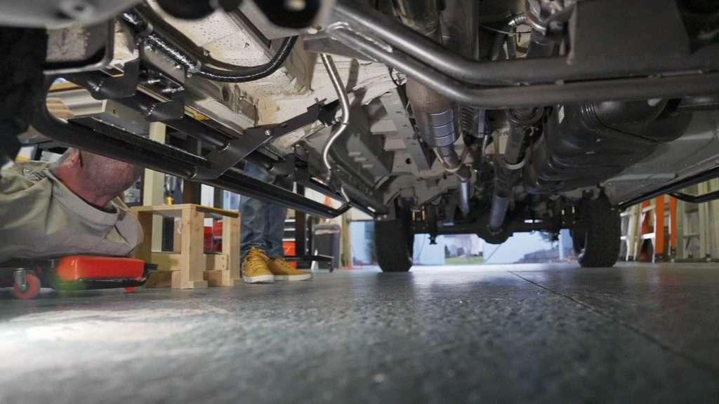 van diesel heater installation exhaust