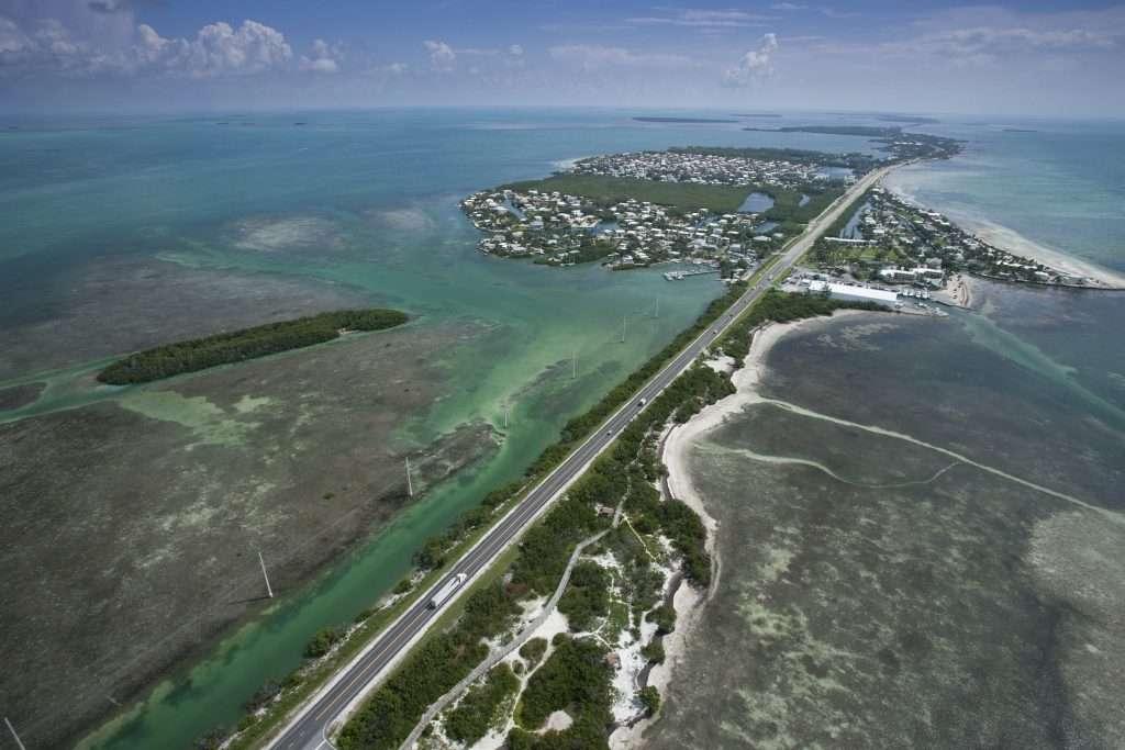 Aerial view of Islamorada.