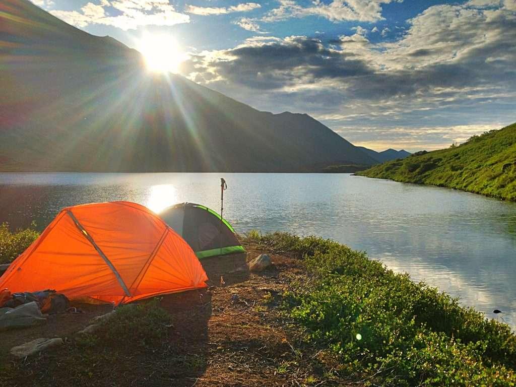 Stunning views while camping in Seward Alaska