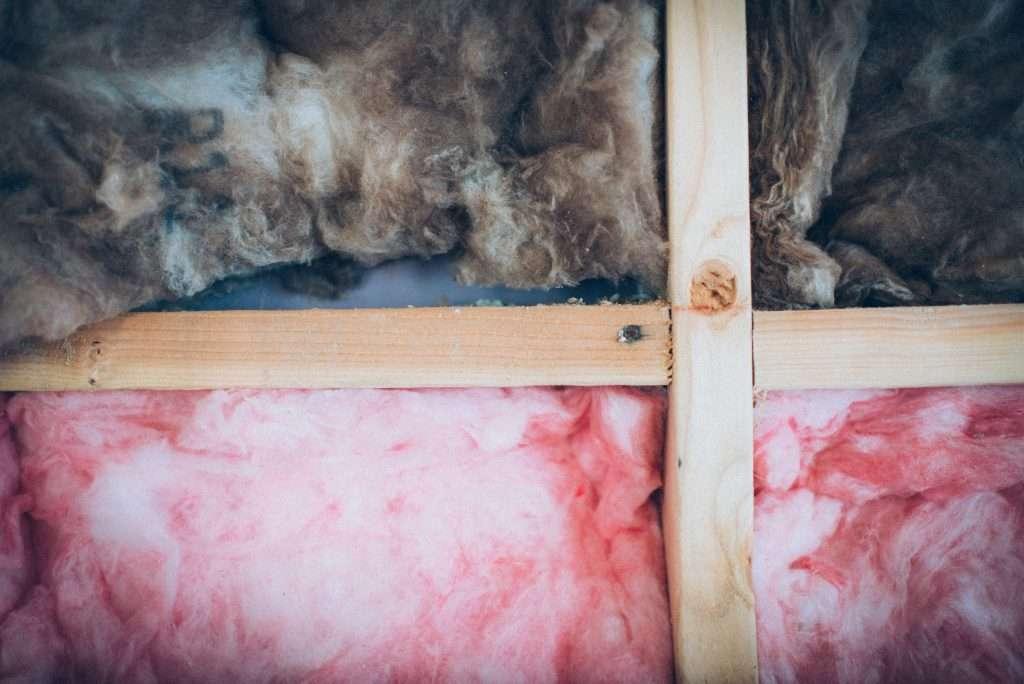RV Insulation. Fiberglass insulation fluffy pink insulation.