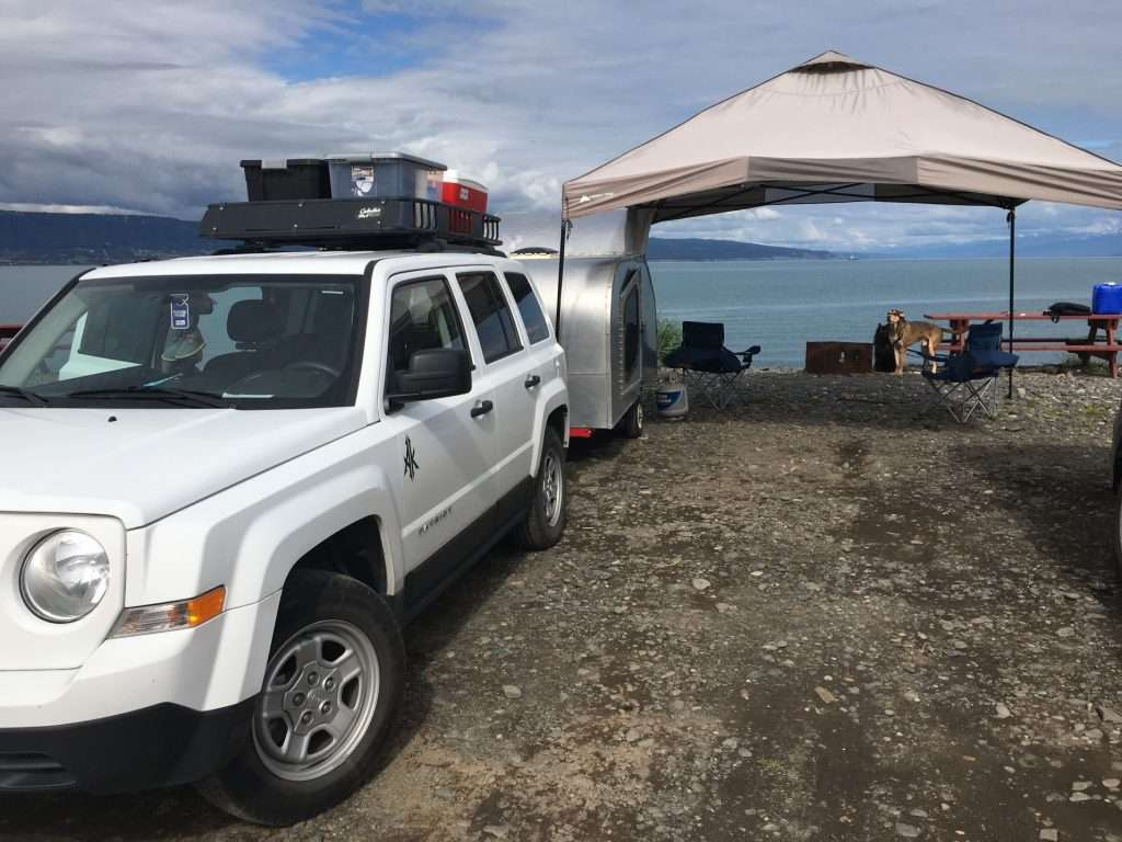Enjoy views along the bay while camping in Seward Alaska