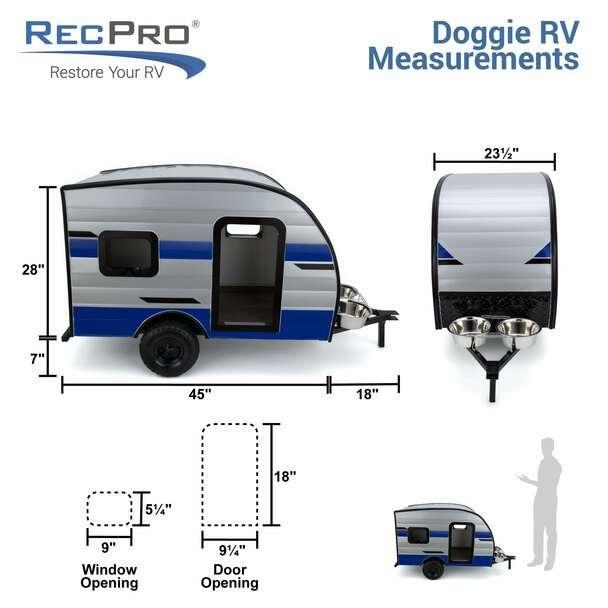 recpro dog camper dimensions
