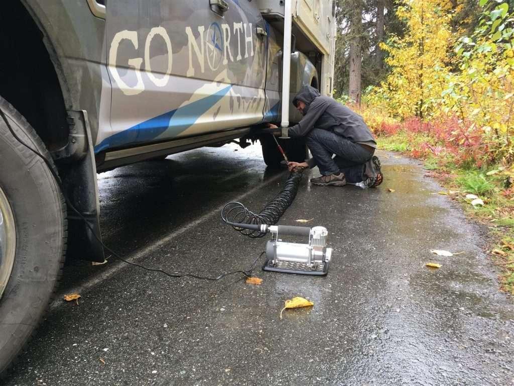 air compressor on truck camper