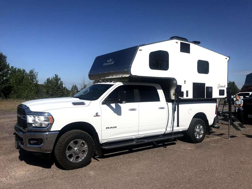 camper with window AC unit