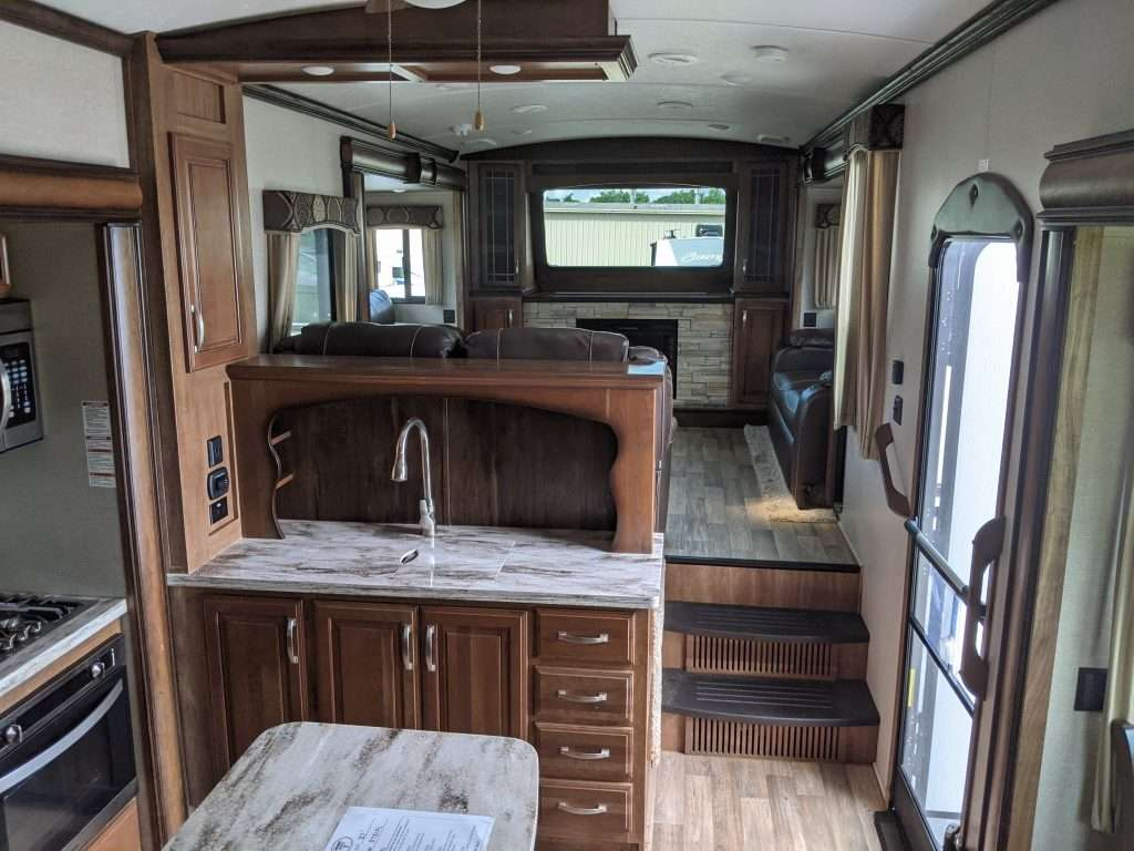 Front Living Room Fifth Wheel Interior