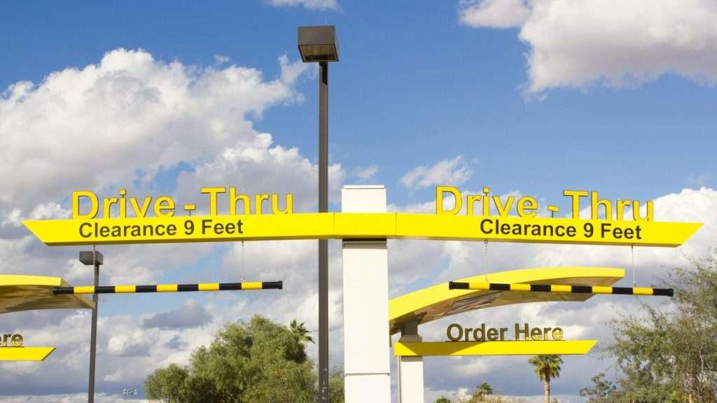 Drive-Thru Clearance Sign