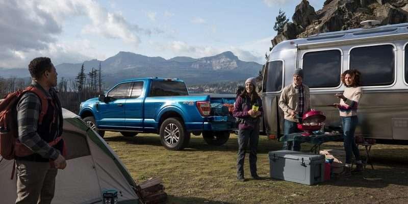 F150 Hybrid Camping