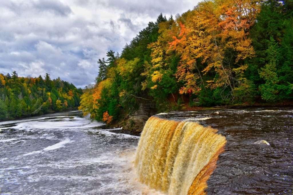 Tahquamenon Falls State Park in the fall.