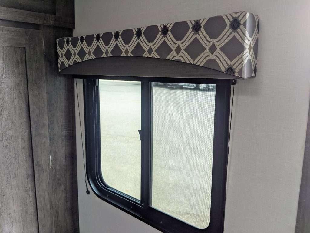 Interior of RV window.