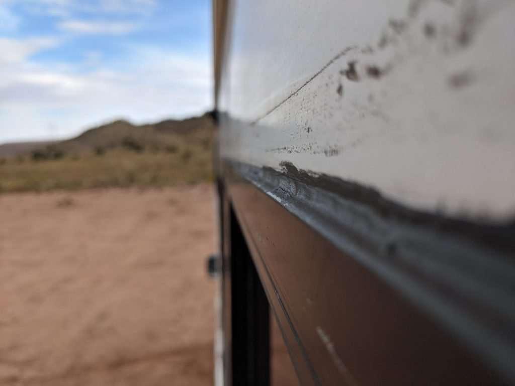 RV window messy caulk