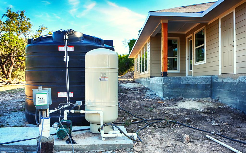 water pressure tank on pump
