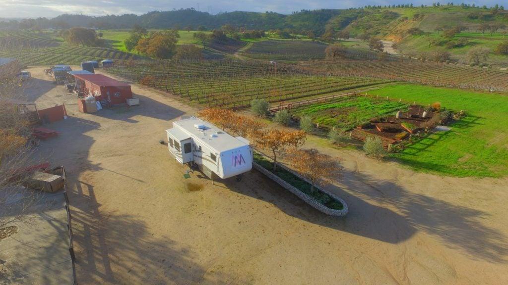 harvest host rv parking