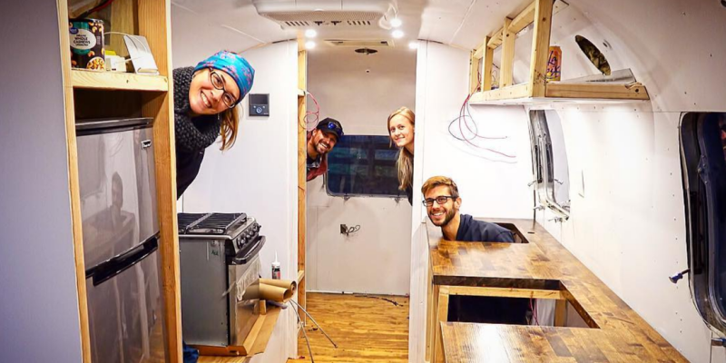 drivin and vibin airstream argosy renovation