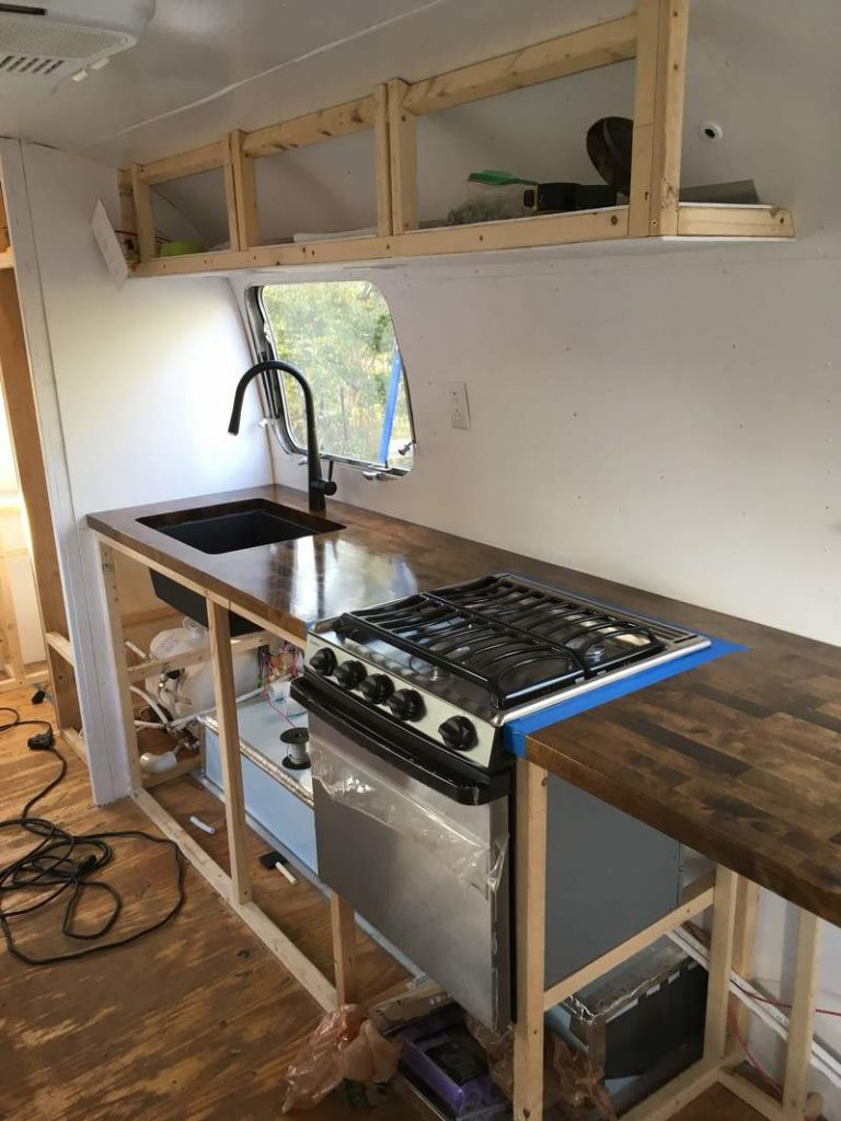 airstream kitchen renovation