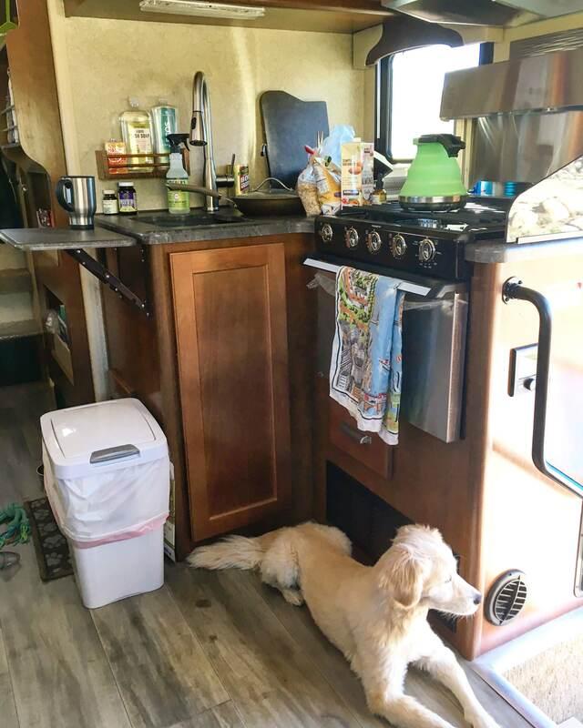 truck camper kitchen