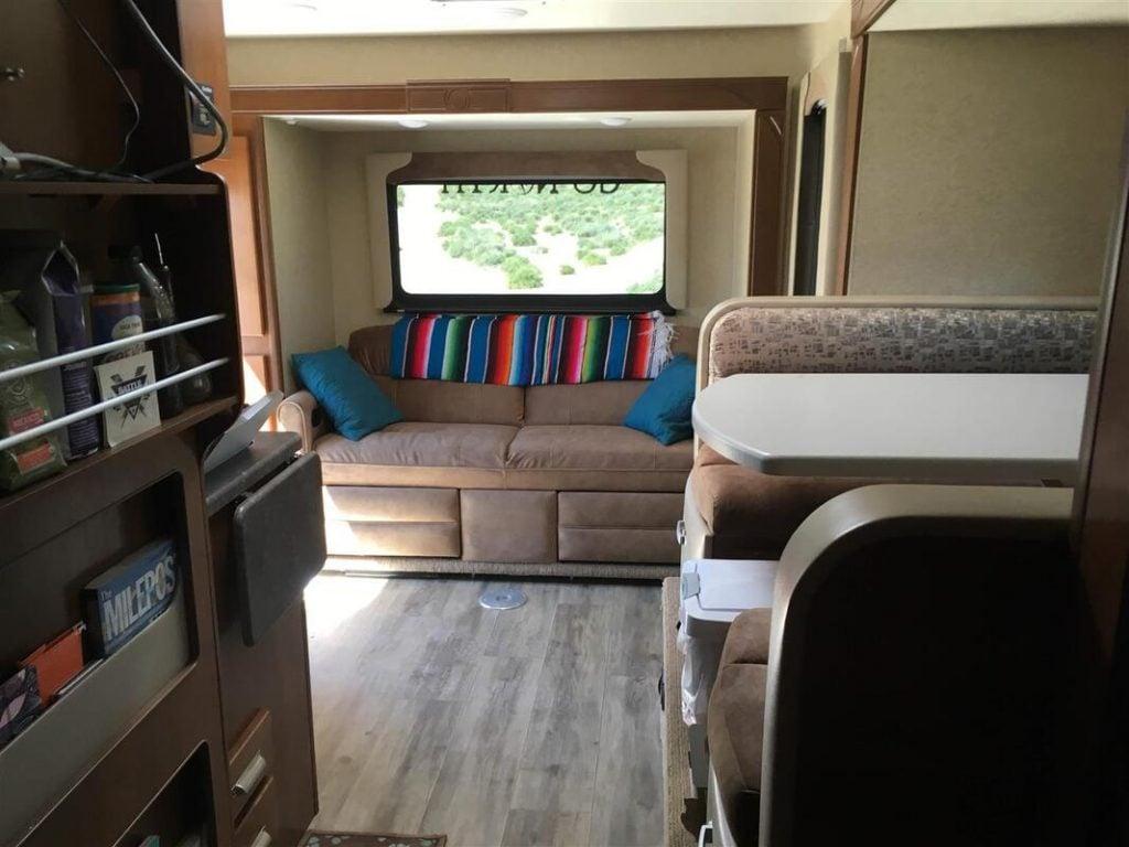 inside of lance 1172 truck camper
