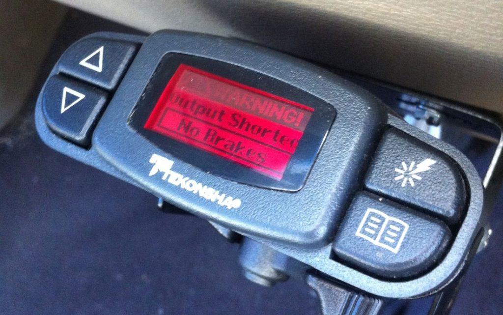 rv trailer brake failure - output shorted no brakes