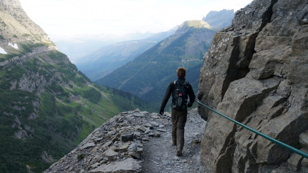 highline trail in glacier national park