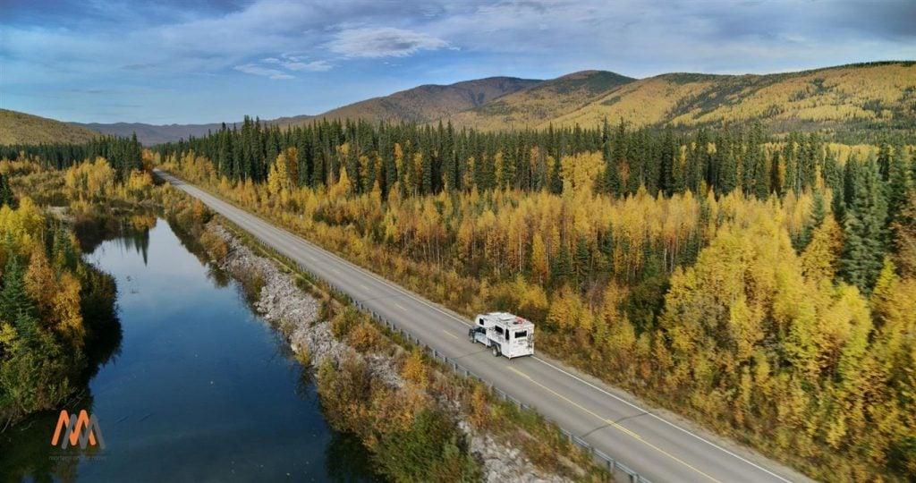 rving in alaska go north