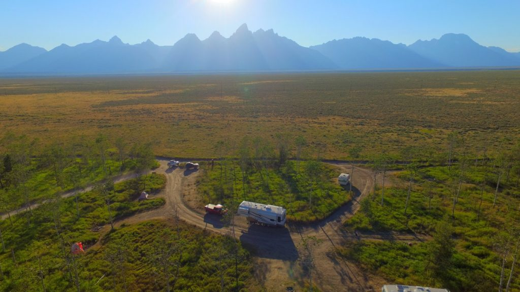 boondocking at grand teton national park