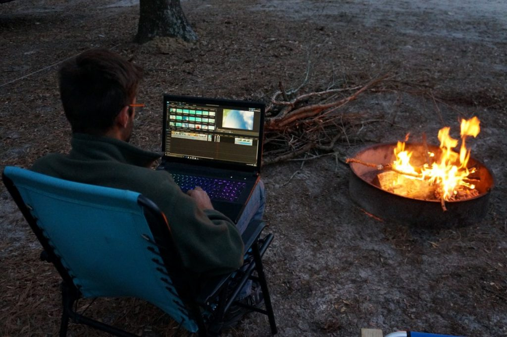 working remotely by campfire