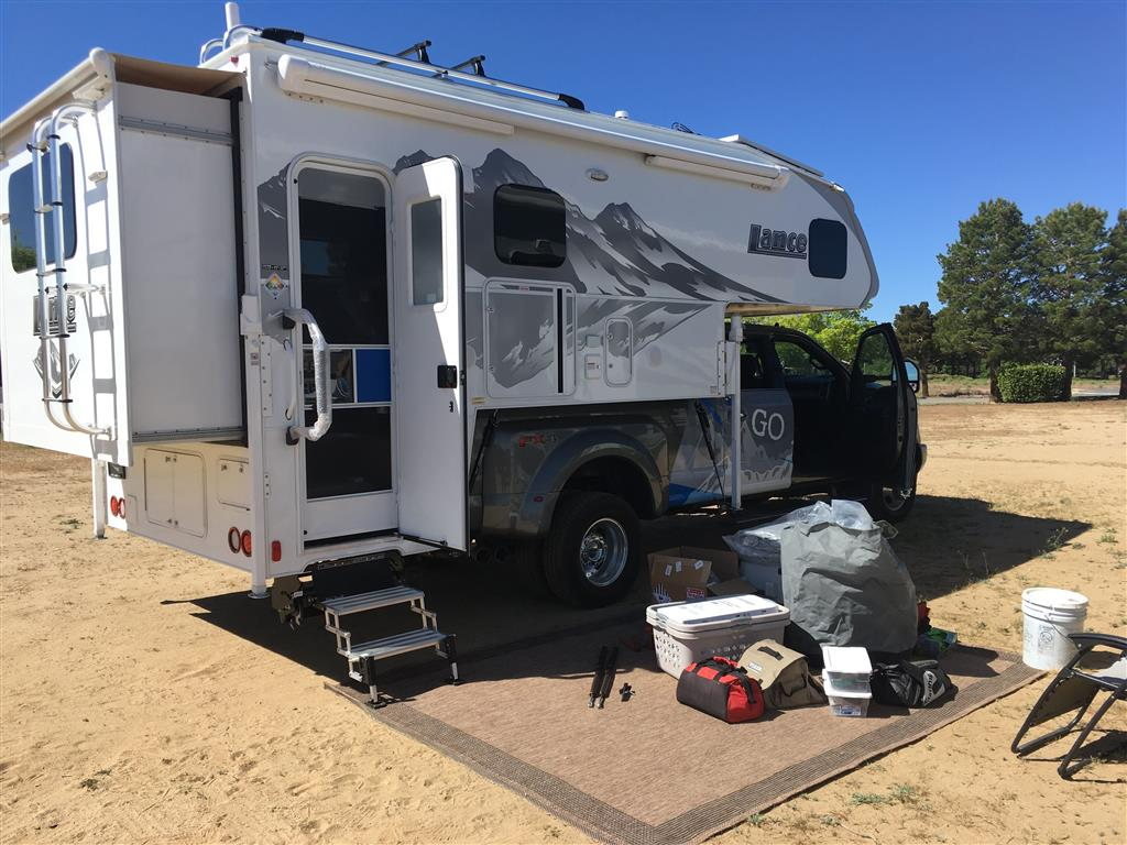 packing a truck camper