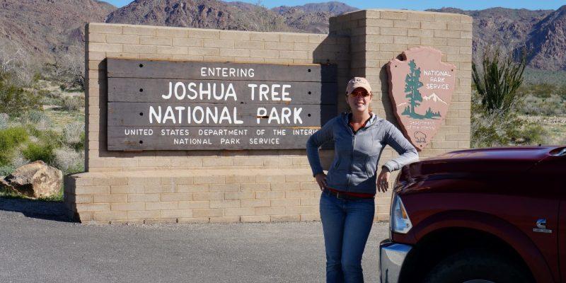 joshua tree national park sign morton