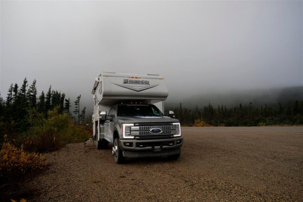 boondocking on klondike highway near skagway
