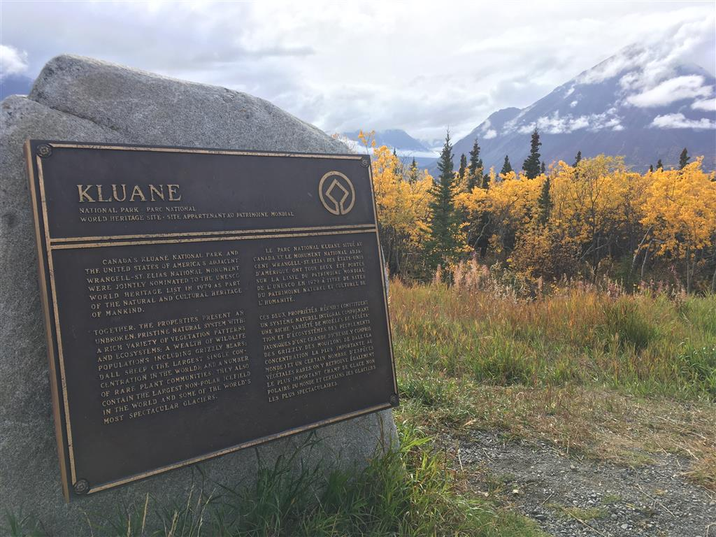 kluane national park plaque