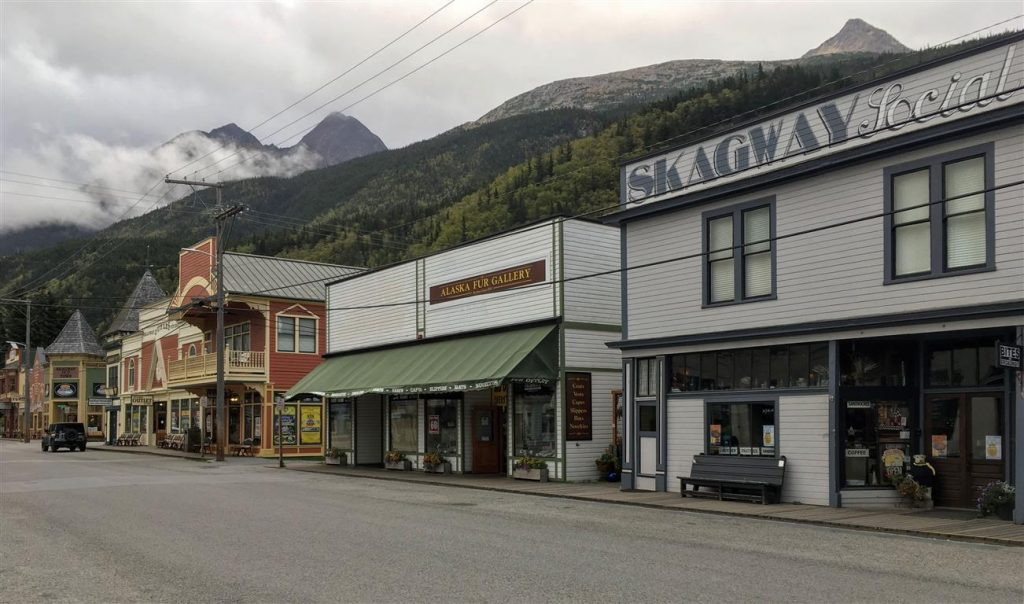 exploring downtown skagway