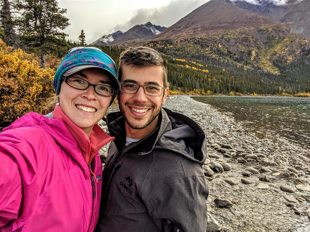hiking at kathleen lake in kluane national park