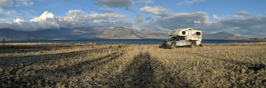 boondocking at Kluane Cove