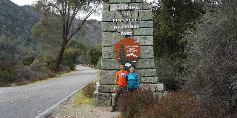 pinnacles national park sign
