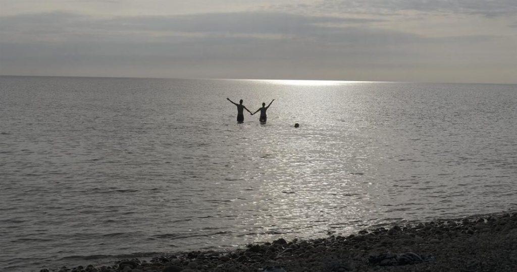 Swimming in Arctic Ocean
