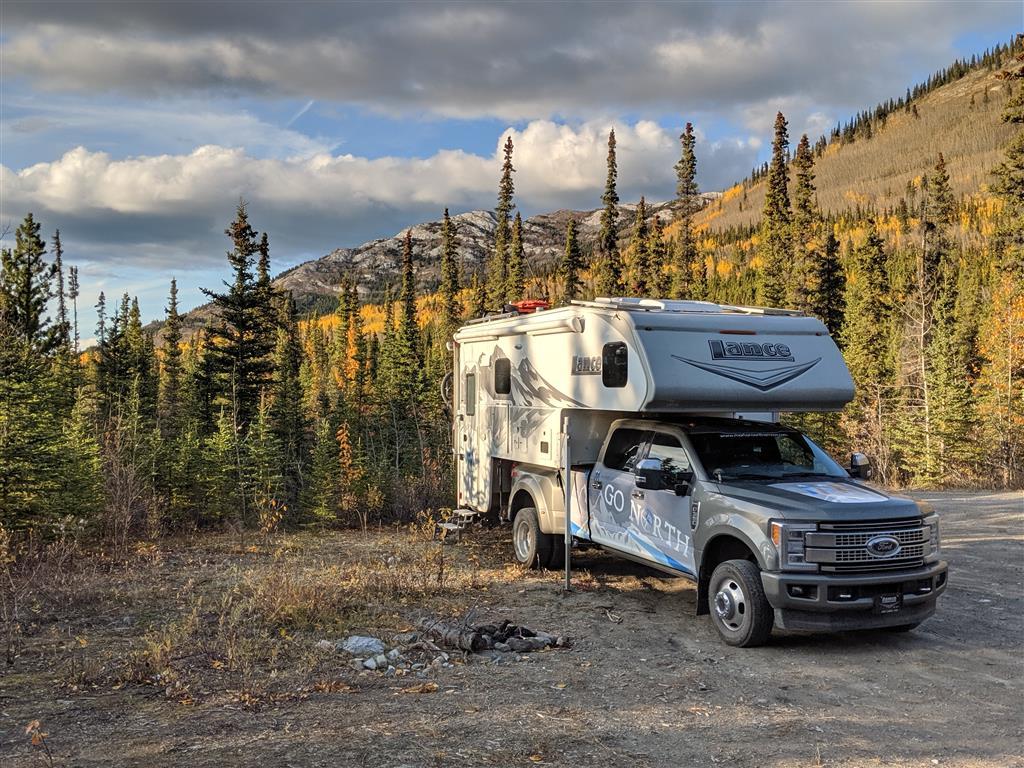 Truck Camper Boondocking in Alaska